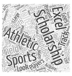 Athletic college scholarship word cloud concept vector