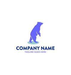 bear logo-4 vector image vector image