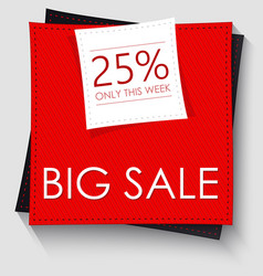 Big sale banner template design red square vector