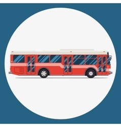 Bus icon flat design city transportation vector image