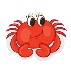 Cartoon crab vector image vector image