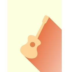 Classic Acoustic Guitar vector image