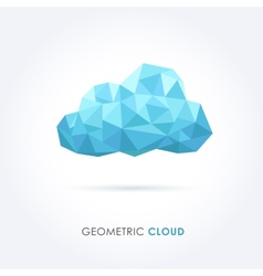 cloud geometrical style vector image vector image