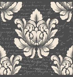 Damask seamless pattern element with vector