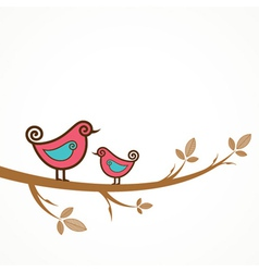 Funny birds on the strings vector