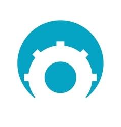 Gear wheel mechanic vector