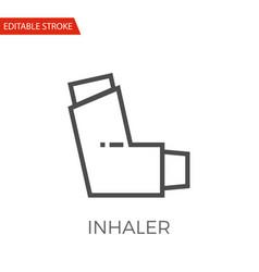 inhaler icon vector image