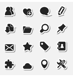 Internet icons set as labels vector