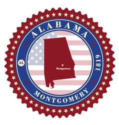 Label sticker cards of state alabama usa vector