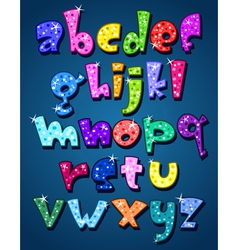 lower case sparkling alphabet vector image vector image