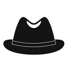 Man hat icon simple style vector