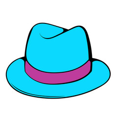 Men hat icon cartoon vector