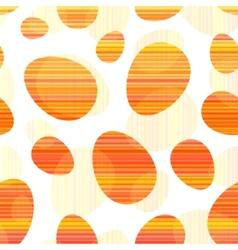 Orange stripes Easter eggs seamless pattern vector image vector image