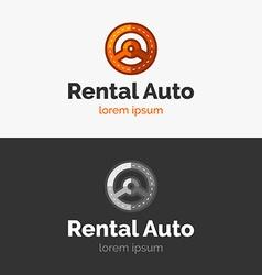 Rental Auto logo vector image vector image