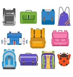 School bags set vector image