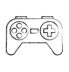 sketch draw control game vector image