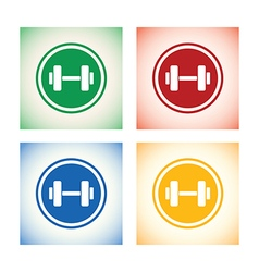 Weights logo set vector