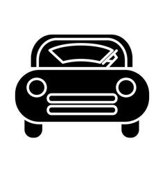 Windshield car icon black vector