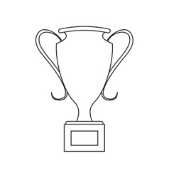 winner trophy icon vector image
