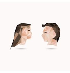 Woman and man vector image