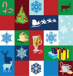 Seamless background christmas holidays vector