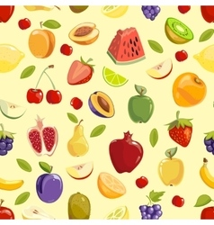 Miscellaneous fruits seamless pattern vector