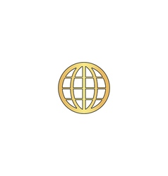 Earth Globe computer symbol vector image