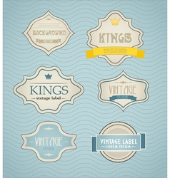 Vintage labels discount labels set vector