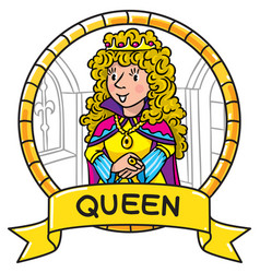 emblem of queen or princess vector image