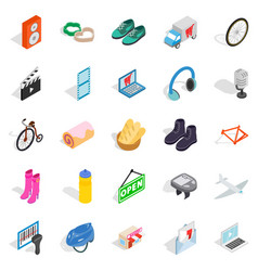 Online purchases icons set isometric style vector