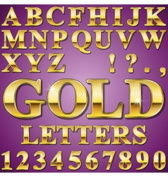 Gold letters vector
