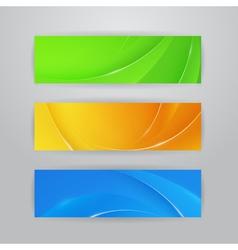 Abstract horizontal banners vector image