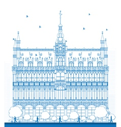 Outline king house in brussels vector