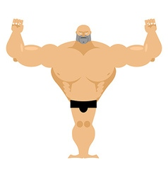 Big strong male athletics bodybuilder with huge vector