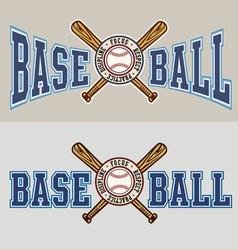 baseball principle vector image