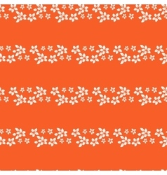 Floral lines seamless pattern horizontal leaf vector