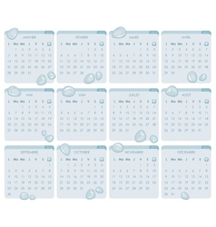 French Calendar 2013 vector image