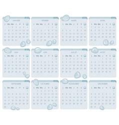 French Calendar 2013 vector image