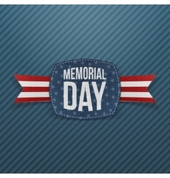 Memorial day festive emblem and ribbon vector