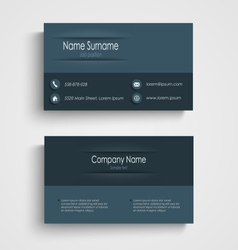 Business card with blue design template vector