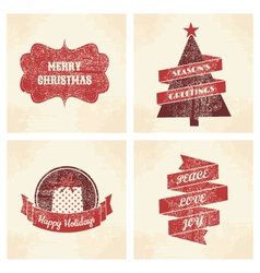 Christmas cards set vector