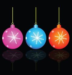 Christmas decorativ ball vector