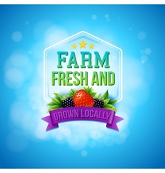 Colorful poster design for farm fresh produce vector