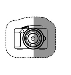 contour camera icon image vector image