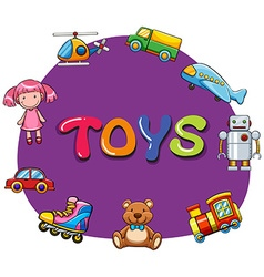 Different kind of toys vector image vector image