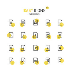 Easy icons 24d files vector