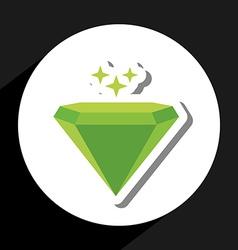 Emerald icon vector