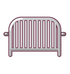 fence speech icon cartoon style vector image vector image