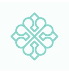 Geometric arabic logo pattern vector