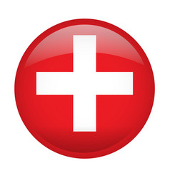 isolated flag of switzerland vector image vector image